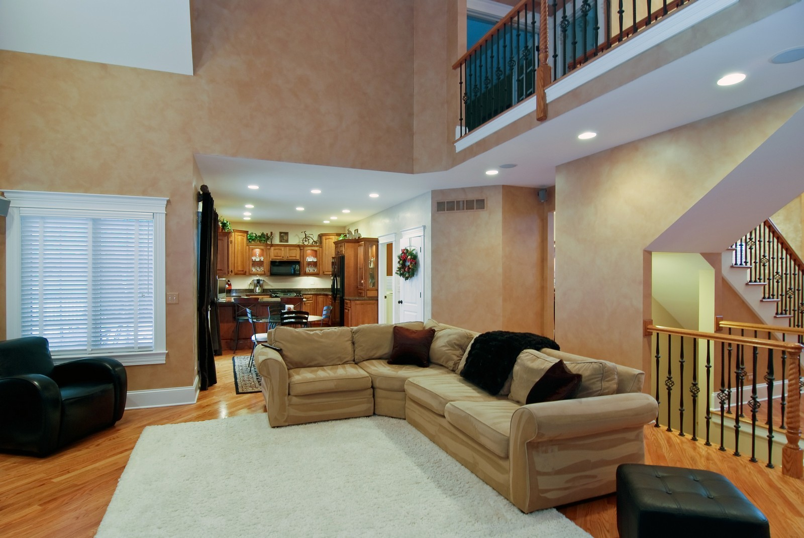 Real Estate Photography - 1064 Cherry Lane, Beecher, IL, 60401 - Family Room / Kitchen