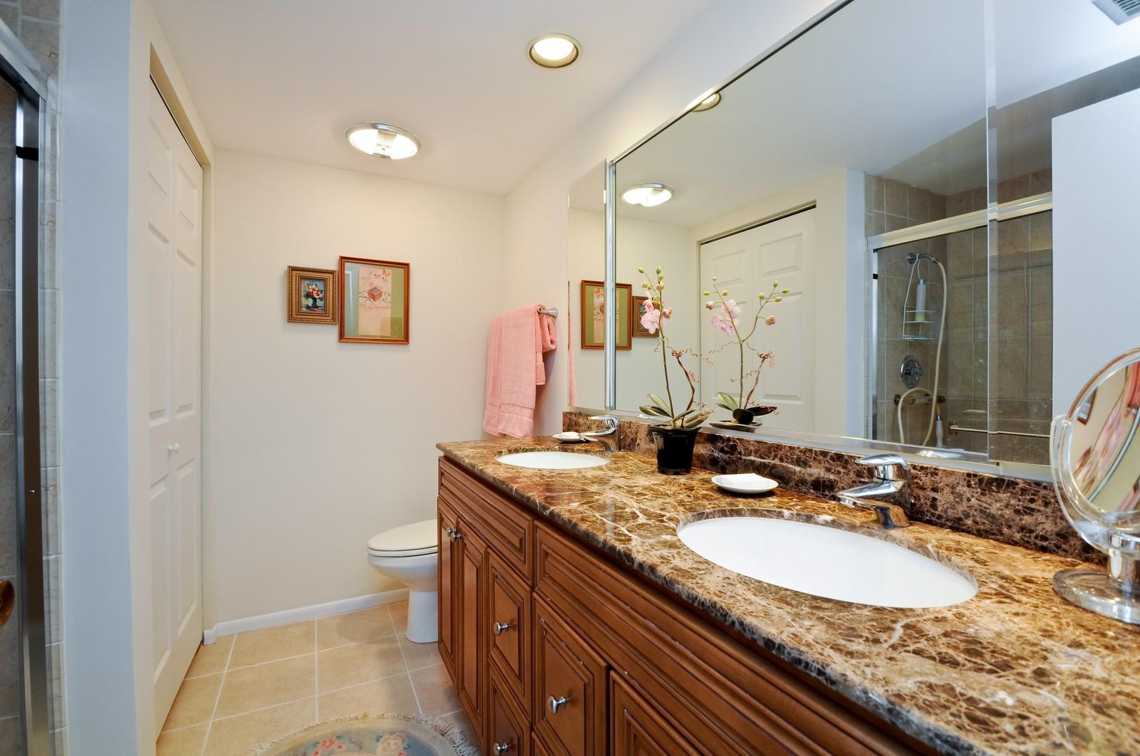 Real Estate Photography - 640 Winnetka, 306, Winnetka, IL, 60093 - Master Bathroom
