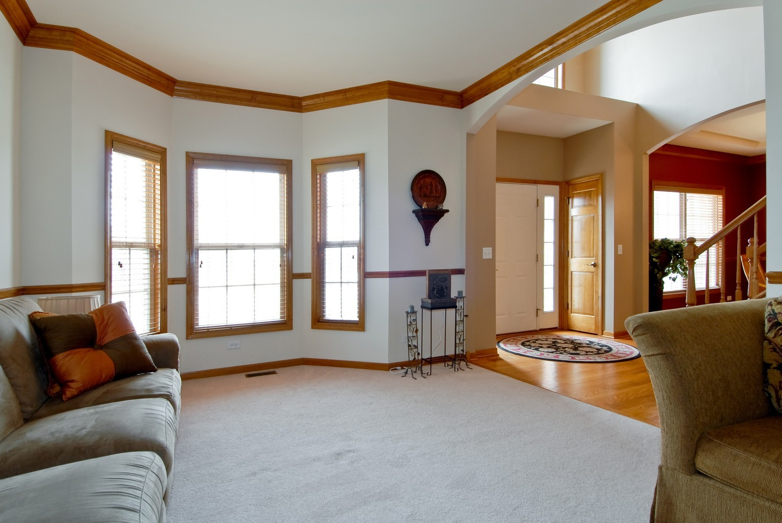 Real Estate Photography - 13232 Birdseye Court, Plainfield, IL, 60585 - Living Room