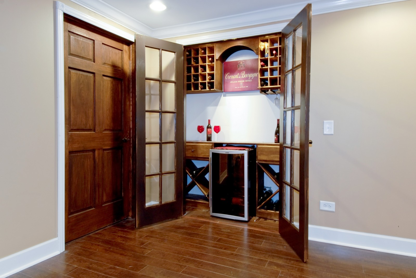 Real Estate Photography - 13232 Birdseye Court, Plainfield, IL, 60585 - Wine Cellar