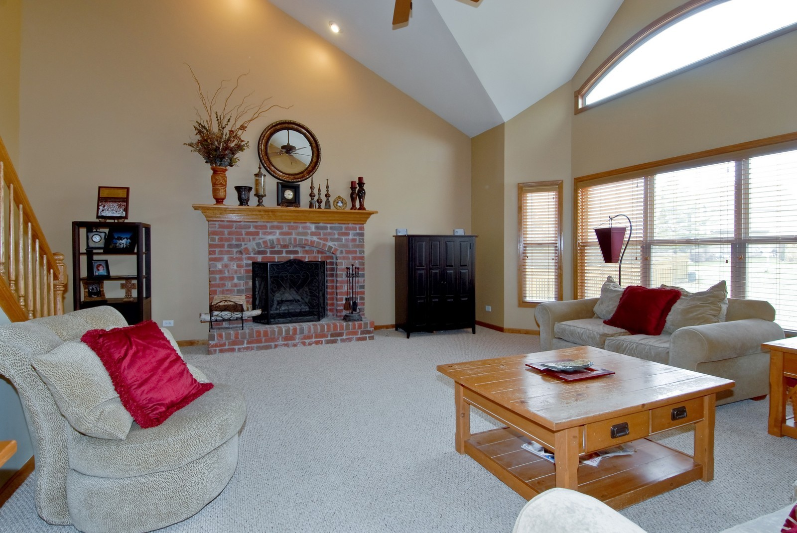 Real Estate Photography - 13232 Birdseye Court, Plainfield, IL, 60585 - Family Room
