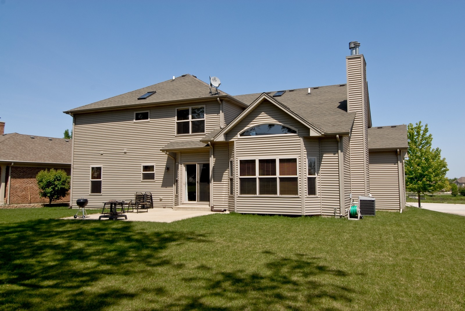 Real Estate Photography - 13232 Birdseye Court, Plainfield, IL, 60585 - Rear View