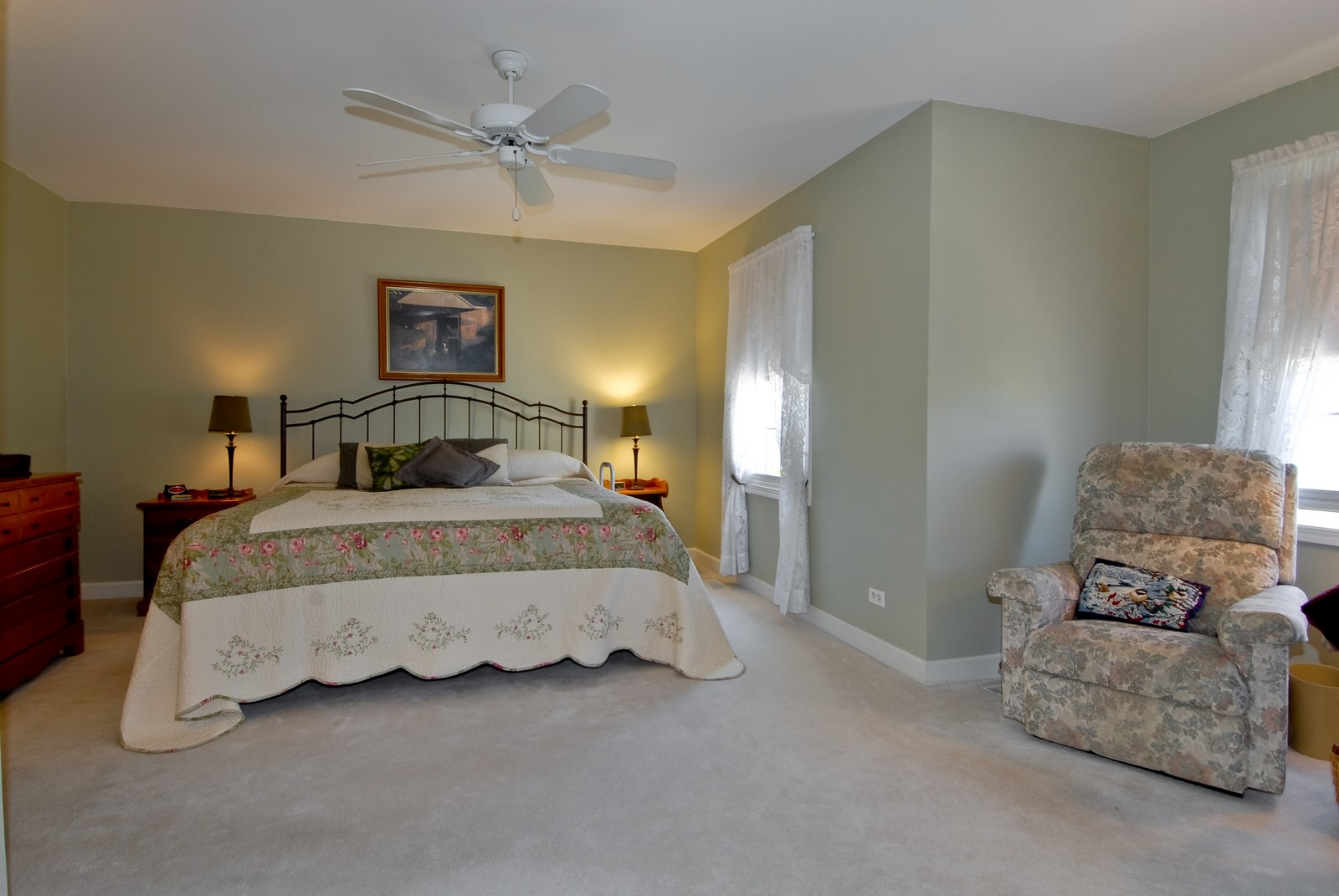Real Estate Photography - 3742 King George Ln, St. Charles, IL, 60174 - Master Bedroom