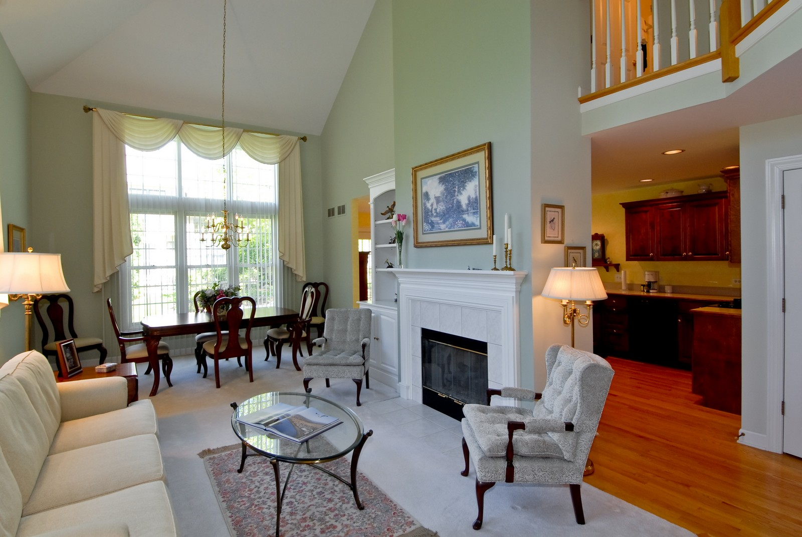 Real Estate Photography - 3742 King George Ln, St. Charles, IL, 60174 - Living Room / Dining Room