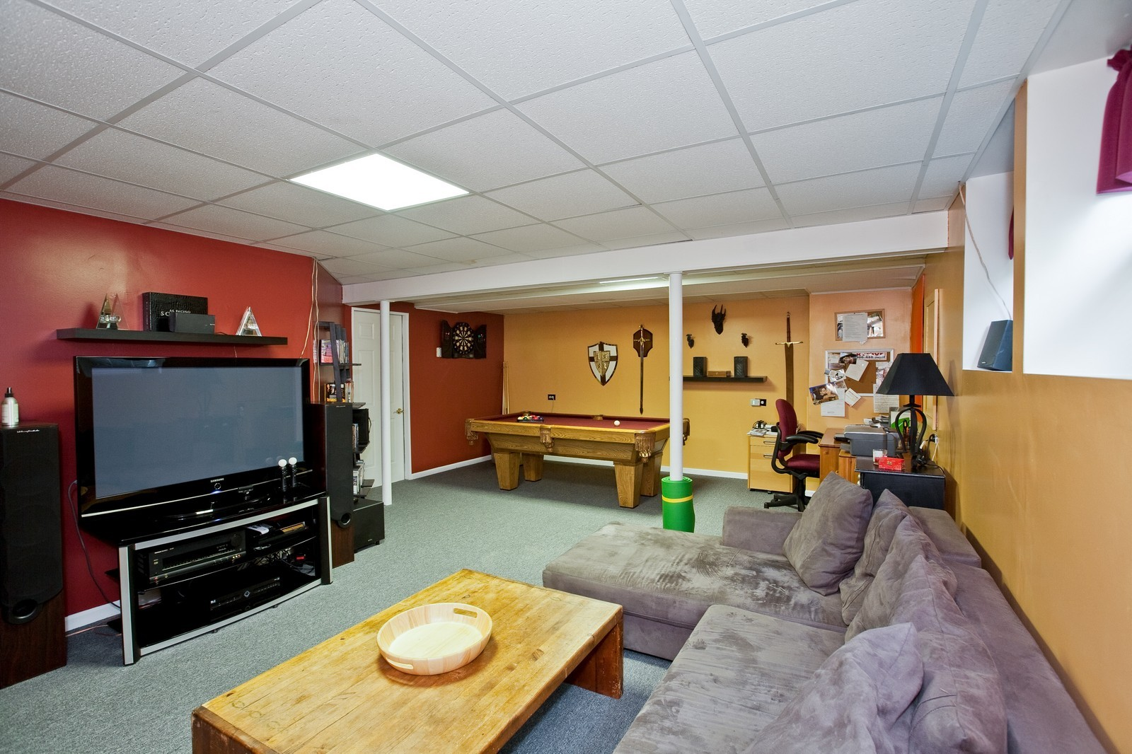 Real Estate Photography - 6131 Wingate, Lisle, IL, 60532 - Recreational Room