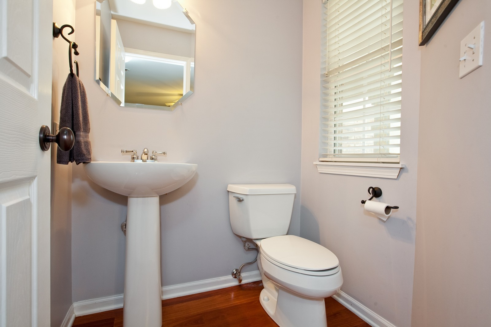 Real Estate Photography - 6131 Wingate, Lisle, IL, 60532 - Half Bath