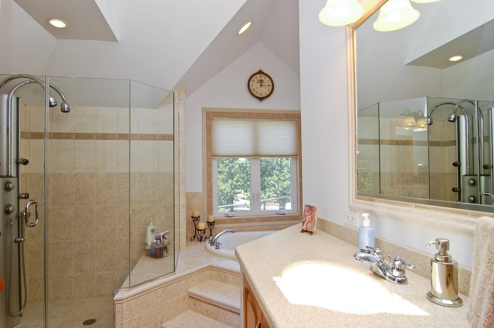 Real Estate Photography - 835 Hill, Glen Ellyn, IL, 60137 - Master Bathroom