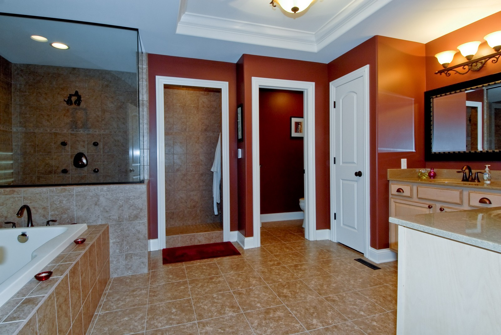 Real Estate Photography - 1221 Wing Ave, St. Charles, IL, 60174 - Master Bathroom