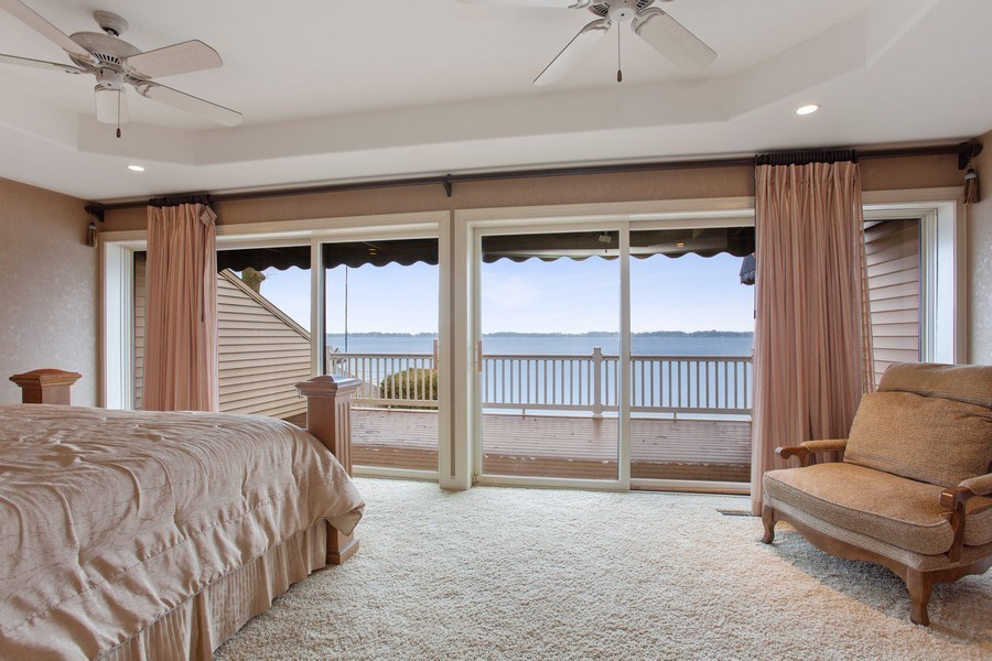 Real Estate Photography - 10946 N SOUTHSHORE DRIVE, SYRACUSE, IN, 46567 - Master Bedroom