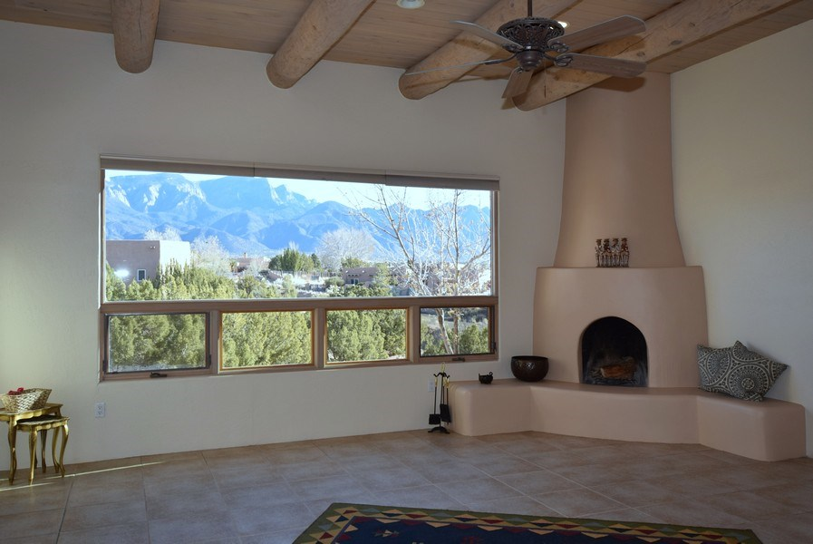 Real Estate Photography - 14 Desert Mountain Rd, Placitas, NM, 87043 - Living Room