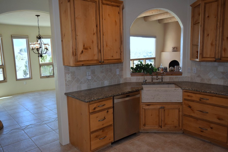 Real Estate Photography - 14 Desert Mountain Rd, Placitas, NM, 87043 - Kitchen