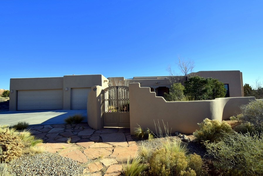 Real Estate Photography - 14 Desert Mountain Rd, Placitas, NM, 87043 - Front View