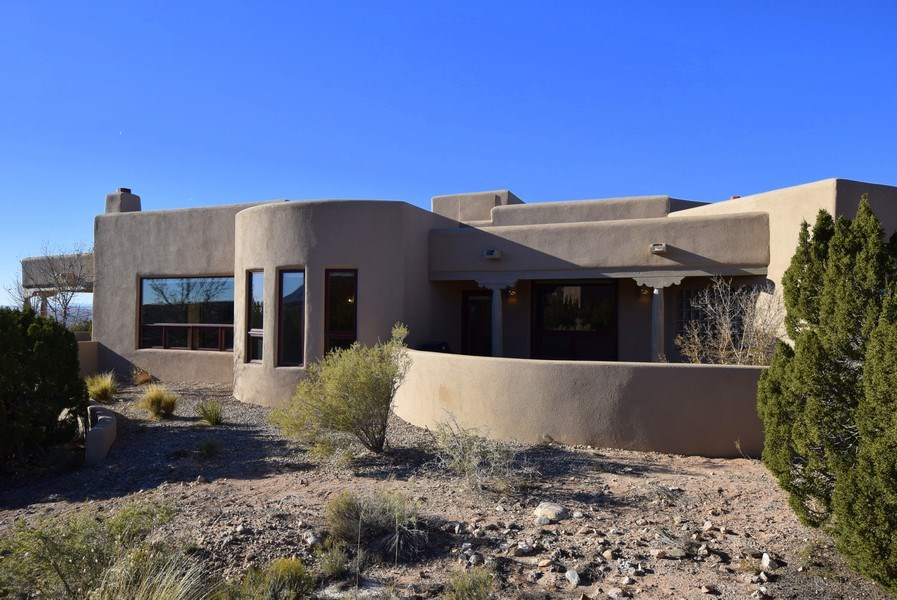 Real Estate Photography - 14 Desert Mountain Rd, Placitas, NM, 87043 - Rear View