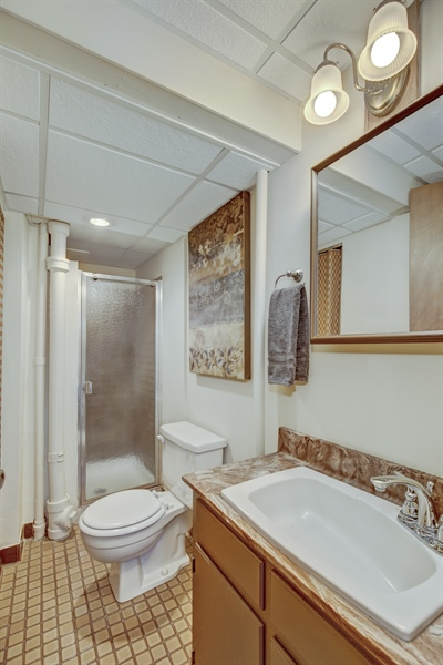 Real Estate Photography - 3027 Lake St, Maplewood, MN, 55109 - 2nd Bathroom