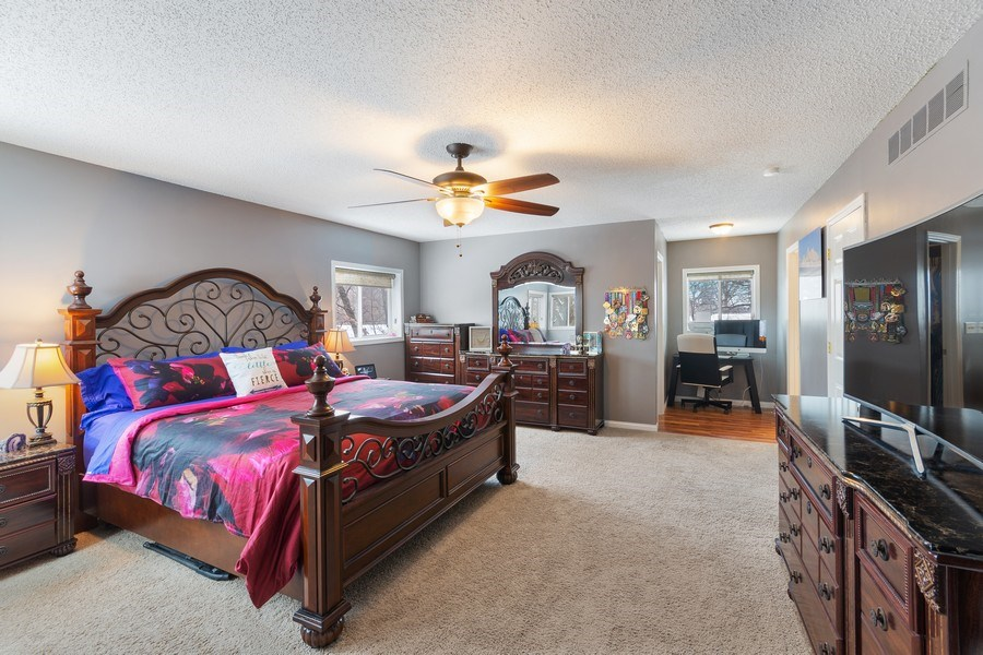 Real Estate Photography - 712 Country Pl, Burnsville, MN, 55337 - Master Bedroom