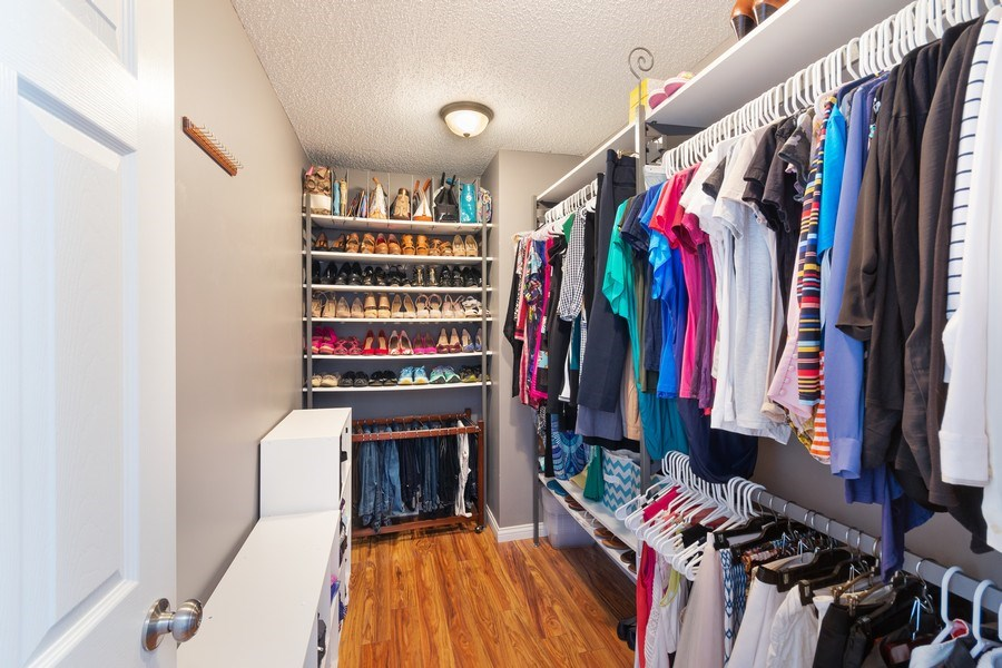 Real Estate Photography - 712 Country Pl, Burnsville, MN, 55337 - Master Bedroom Closet