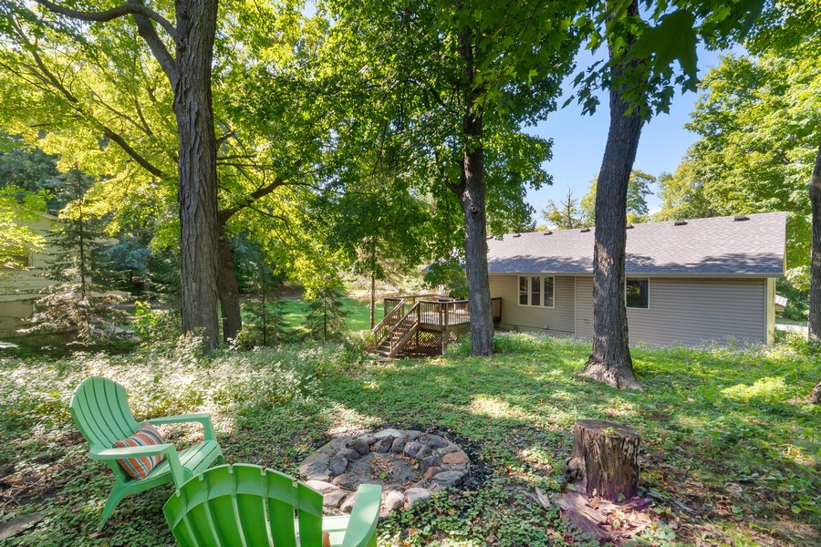 Real Estate Photography - 4885 Rustic Way, Shorewood, MN, 55331 - Back Yard