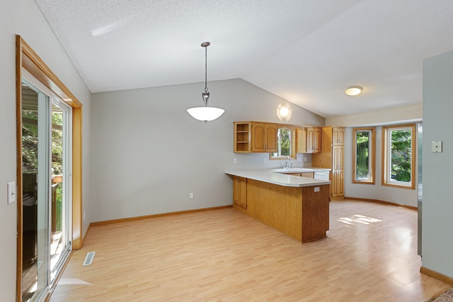 Real Estate Photography - 4885 Rustic Way, Shorewood, MN, 55331 - Kitchen / Dining Room