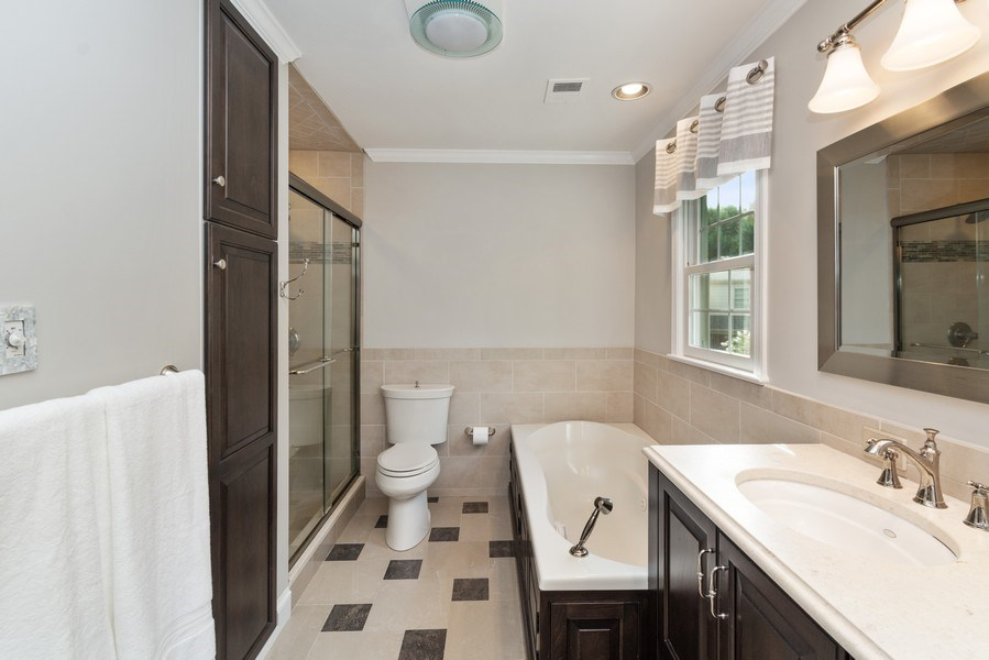 Real Estate Photography - 1401 Coventry Lane, Alexandria, VA, 22304 - Master Bathroom