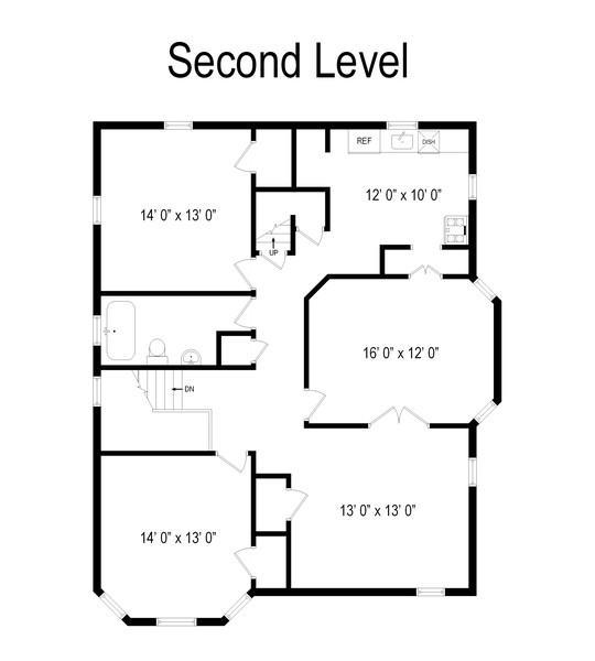 Real Estate Photography - 192 North Ave E, Cranford, NJ, 07016 - Floor Plan