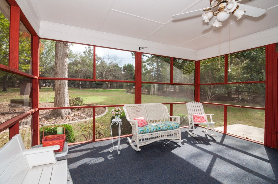 Real Estate Photography - 2100 Kilkenney Hill Rd, Matthews, NC, 28105 - Screened Porch