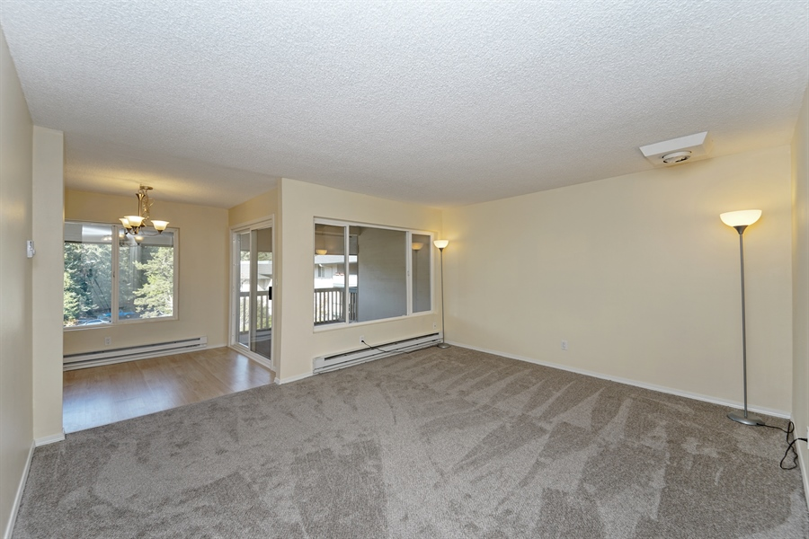 Real Estate Photography - 5620 200th St SW, unit B320, Lynnwood, WA, 98036 - Living Room / Dining Room