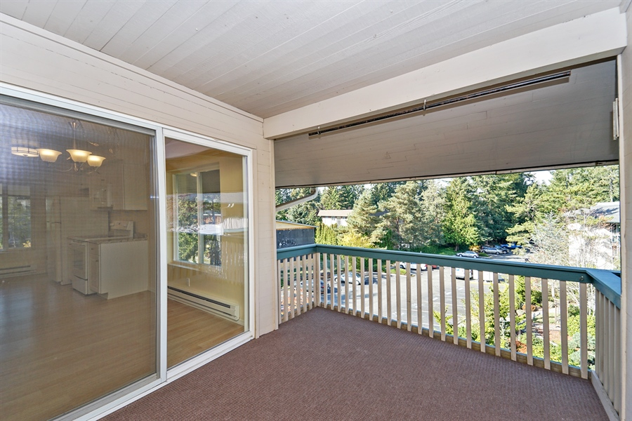 Real Estate Photography - 5620 200th St SW, unit B320, Lynnwood, WA, 98036 - Balcony