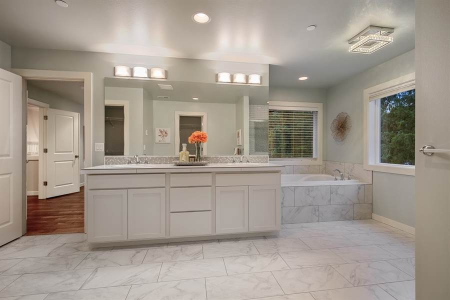 Real Estate Photography - 3580 SE 16th St, North Bend, WA, 98045 - Master Bathroom