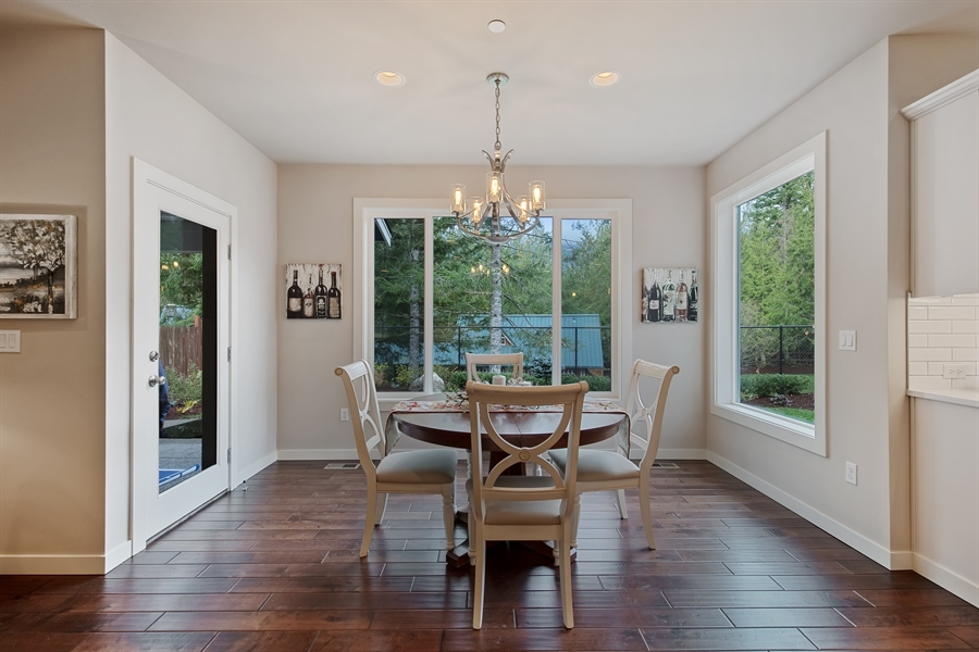 Real Estate Photography - 3580 SE 16th St, North Bend, WA, 98045 - Dining Area