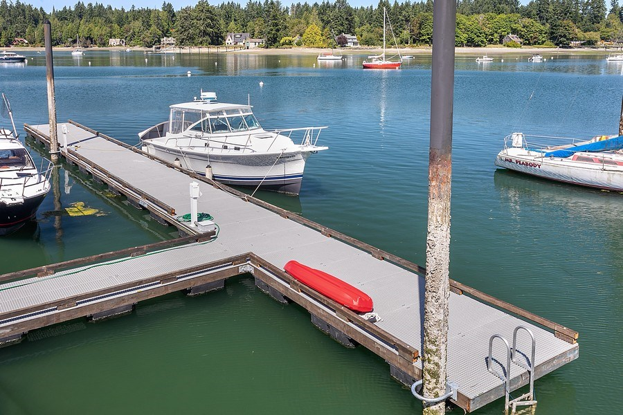 Real Estate Photography - 16480 Euclid Ave, Bainbridge Island, WA, 98110 - Dock