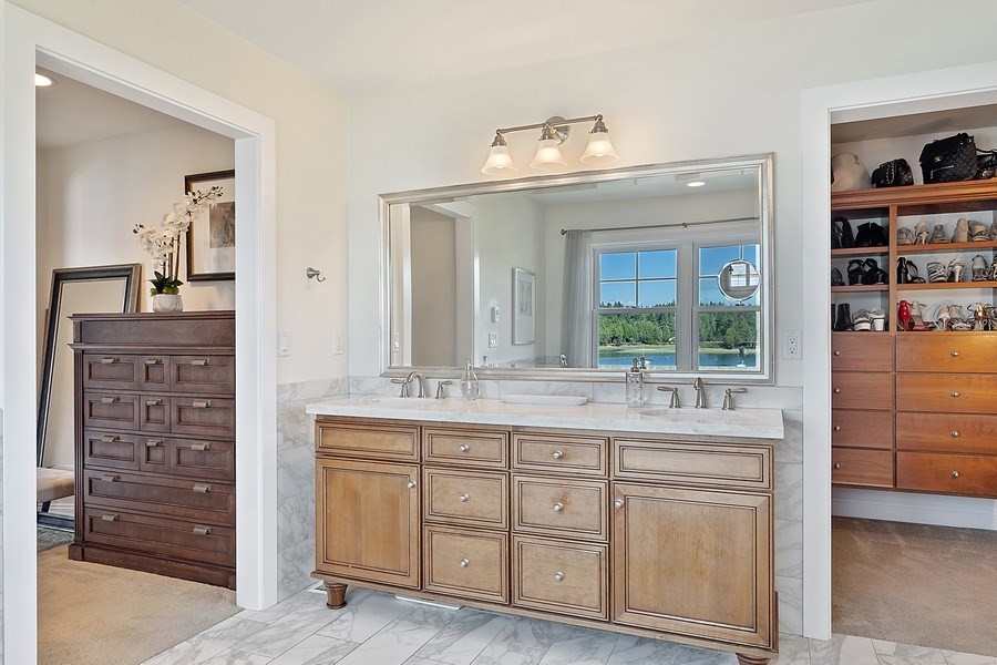 Real Estate Photography - 16480 Euclid Ave, Bainbridge Island, WA, 98110 - Master Bathroom