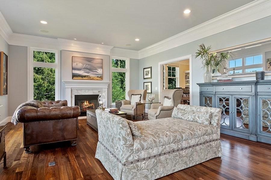 Real Estate Photography - 16480 Euclid Ave, Bainbridge Island, WA, 98110 - Living Room