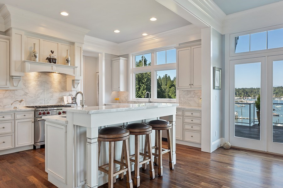 Real Estate Photography - 16480 Euclid Ave, Bainbridge Island, WA, 98110 - Kitchen