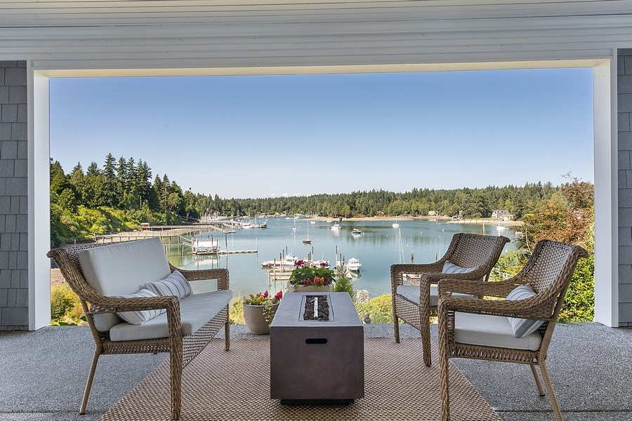 Real Estate Photography - 16480 Euclid Ave, Bainbridge Island, WA, 98110 - Patio