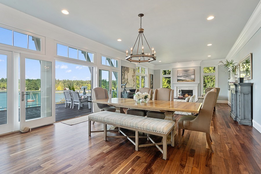 Real Estate Photography - 16480 Euclid Ave, Bainbridge Island, WA, 98110 - Living Room / Dining Room