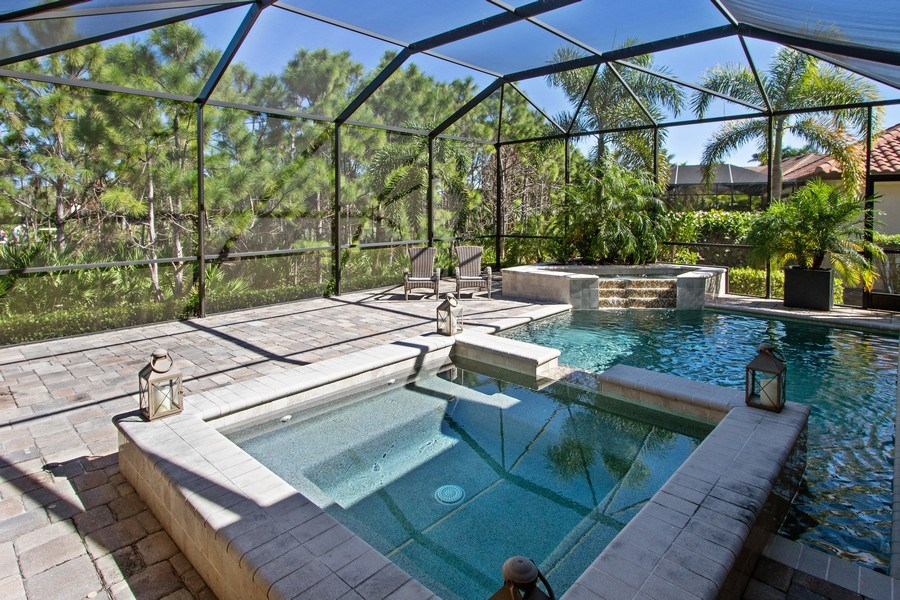 Real Estate Photography - 6751 Mossy Glen Drive, Ft. Myers, FL, 33908 - Pool/Spa
