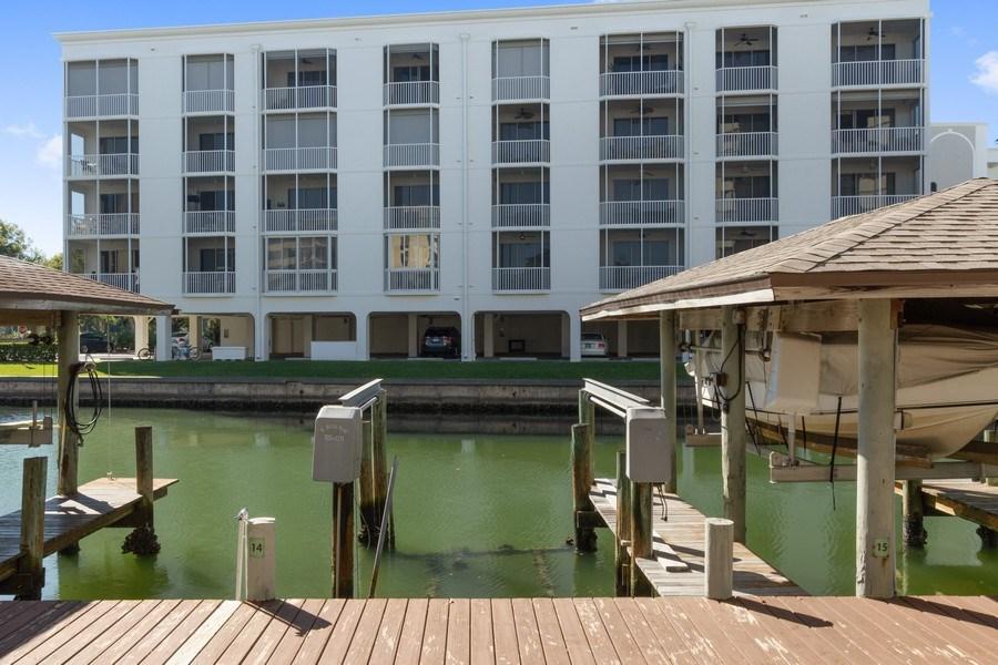 Real Estate Photography - 4263 Bay Beach Ln, #613, Fort Myers Beach, FL, 33931 - Dock