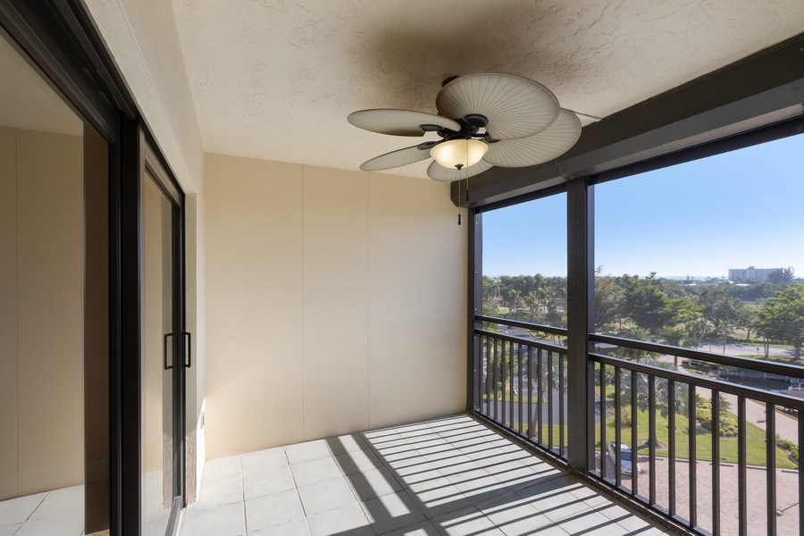 Real Estate Photography - 4263 Bay Beach Ln, #613, Fort Myers Beach, FL, 33931 - Lanai