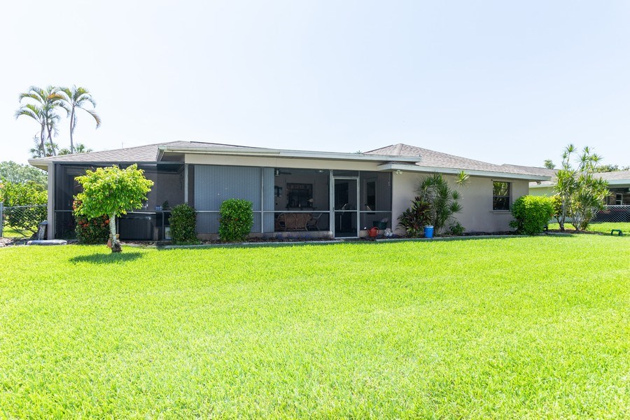 Real Estate Photography - 1518 Whiskey Creek Drive, Fort Myers, FL, 33919 - Back Yard