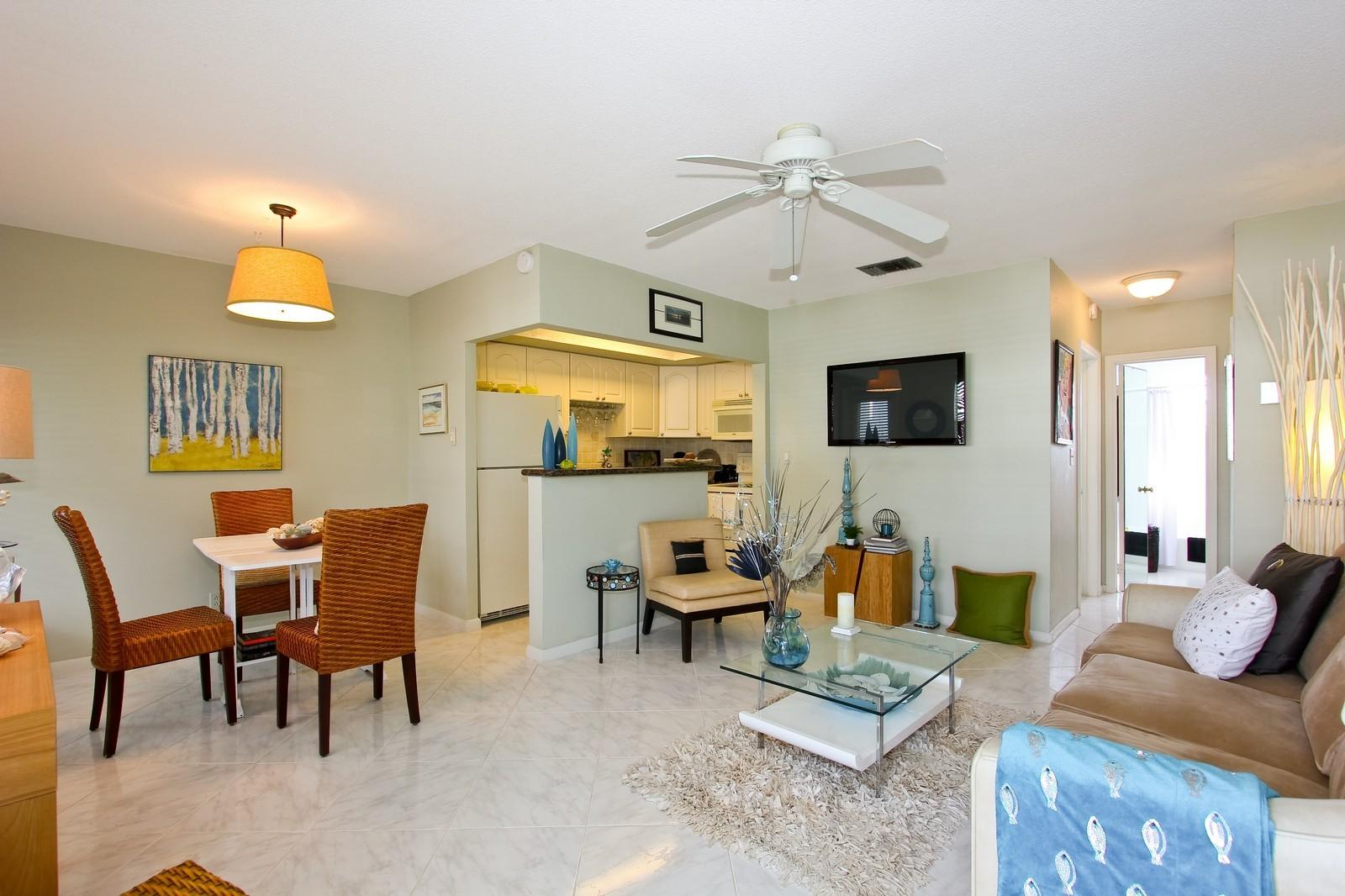 Real Estate Photography - 5505 N Ocean Blvd, 4-203, Ocean Ridge, FL, 33435 - Living Room