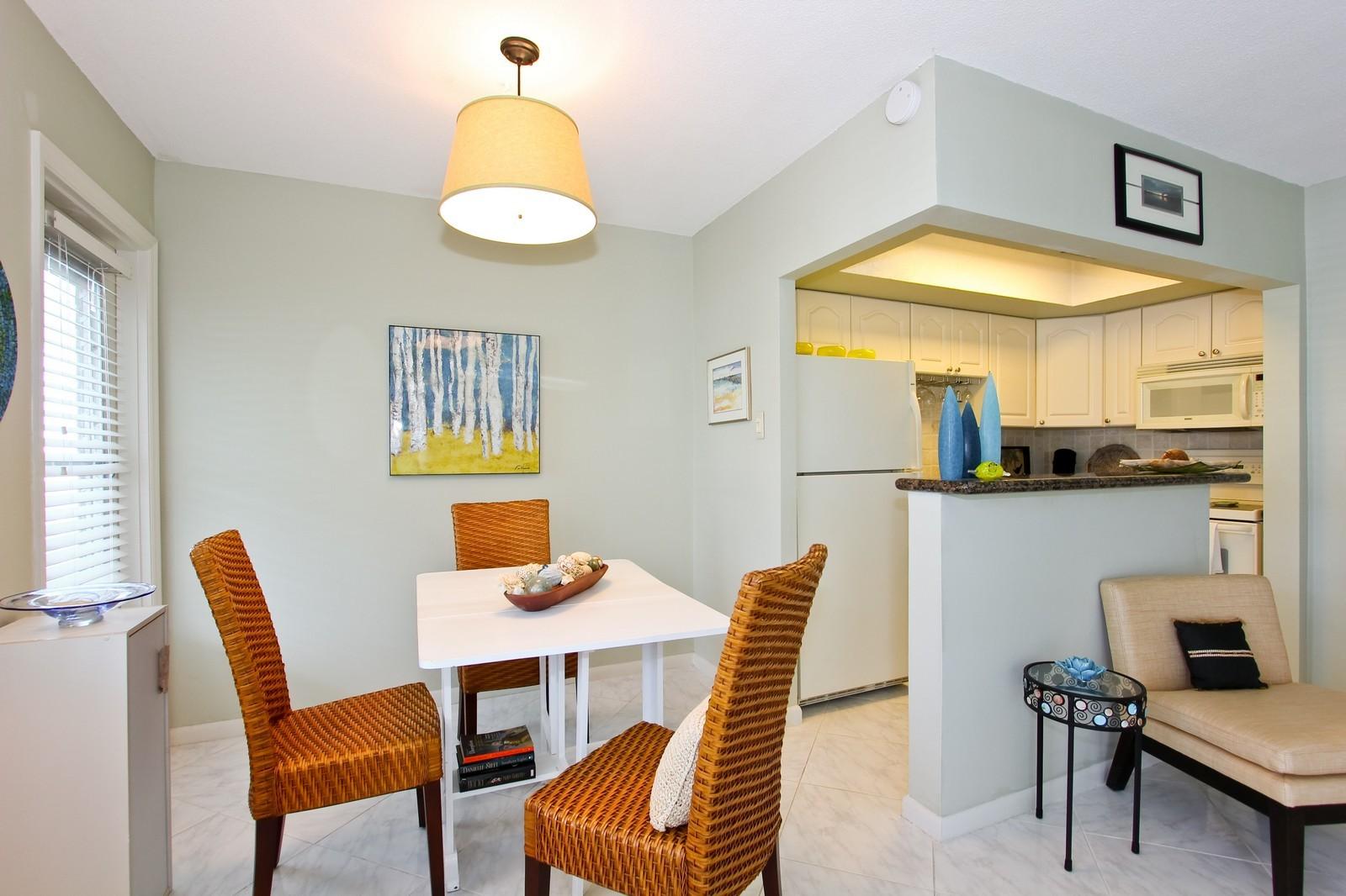 Real Estate Photography - 5505 N Ocean Blvd, 4-203, Ocean Ridge, FL, 33435 - Kitchen / Dining Room