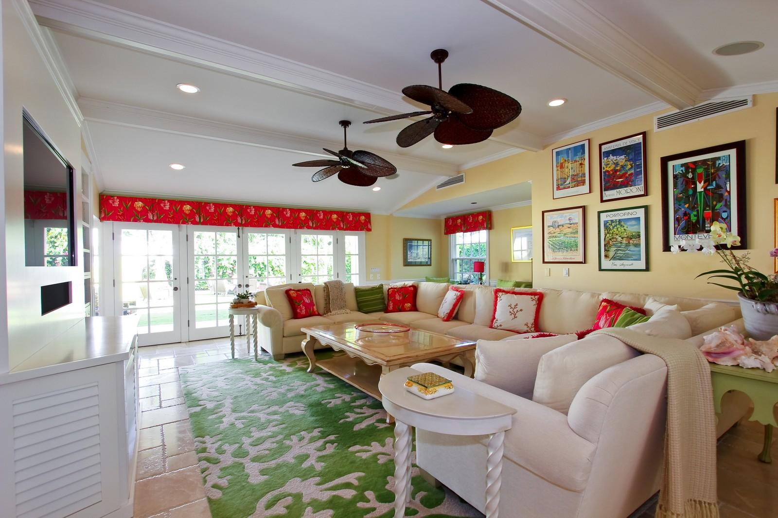Real Estate Photography - 301 Garden Rd, Palm Beach, FL, 33480 - Family Room