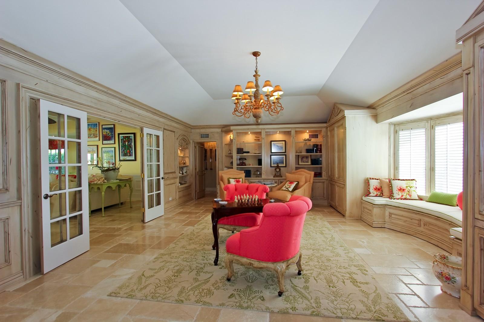 Real Estate Photography - 301 Garden Rd, Palm Beach, FL, 33480 - Library