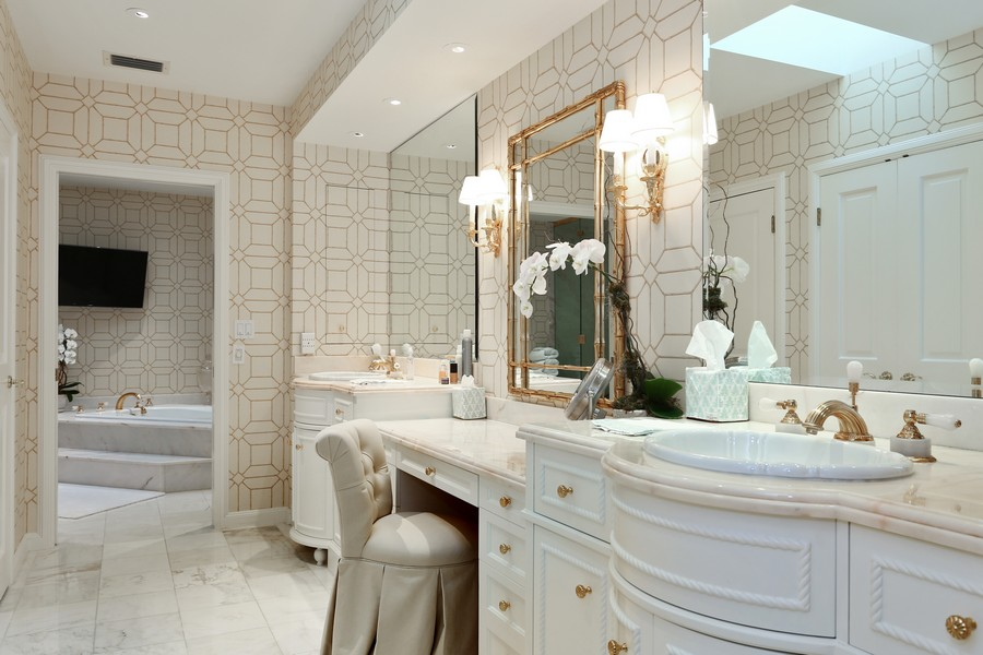 Real Estate Photography - 326 Via Linda, Palm Beach, FL, 33480 - Master Bathroom