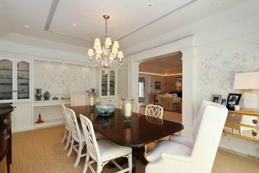 Real Estate Photography - 326 Via Linda, Palm Beach, FL, 33480 - Dining Room