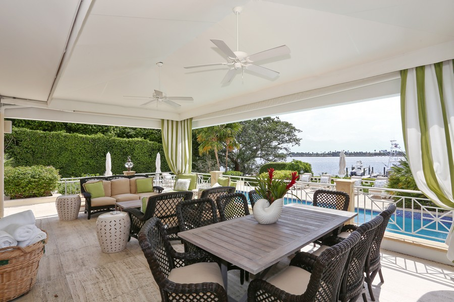 Real Estate Photography - 326 Via Linda, Palm Beach, FL, 33480 - Loggia
