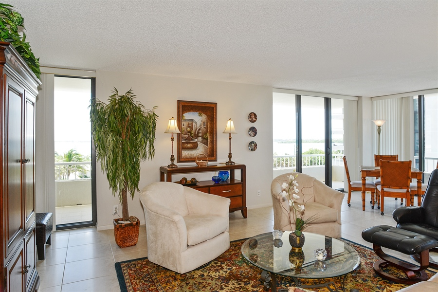 Real Estate Photography - 5540 N. Ocean Drive, 3D, Riviera Beach, FL, 33404 - Living Room