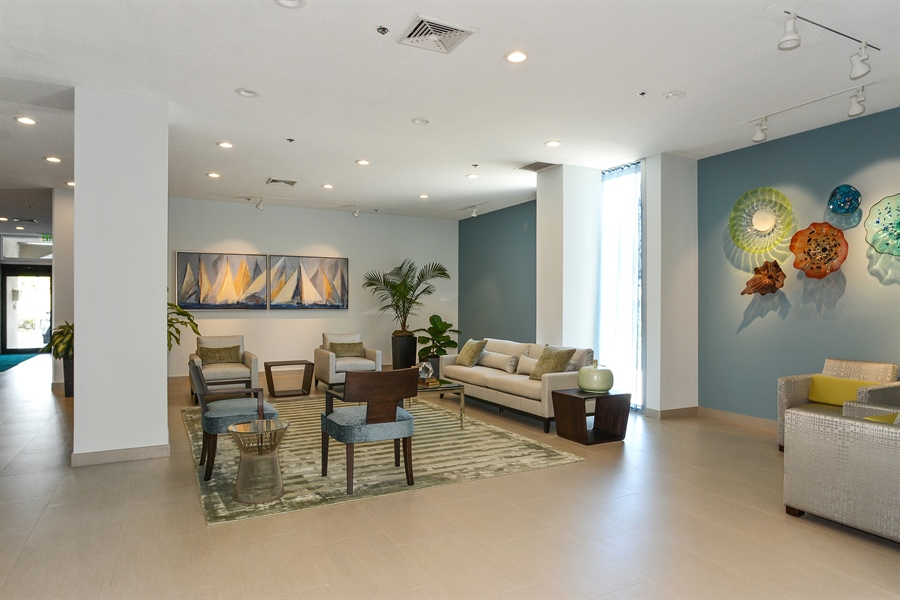 Real Estate Photography - 5540 N. Ocean Drive, 3D, Riviera Beach, FL, 33404 - Lobby
