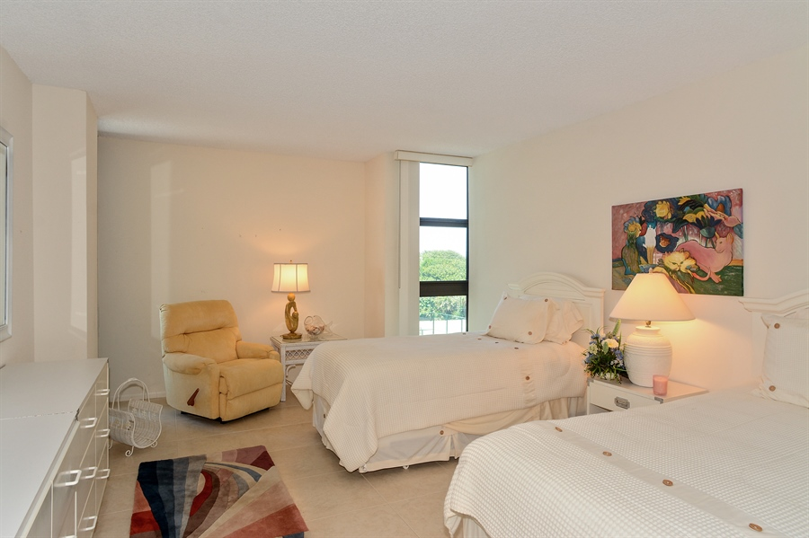 Real Estate Photography - 5540 N. Ocean Drive, 3D, Riviera Beach, FL, 33404 - 2nd Bedroom