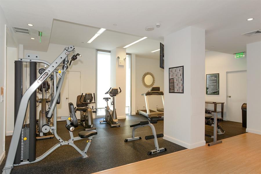 Real Estate Photography - 5540 N. Ocean Drive, 3D, Riviera Beach, FL, 33404 - Gym